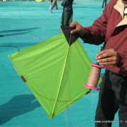 Tipik bir Hint Savaşçı uçurtması - Indian fighter kite