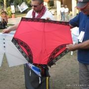 İç çamaşırı şeklinde bir savaşçı uçurtma - Pants fighter kite