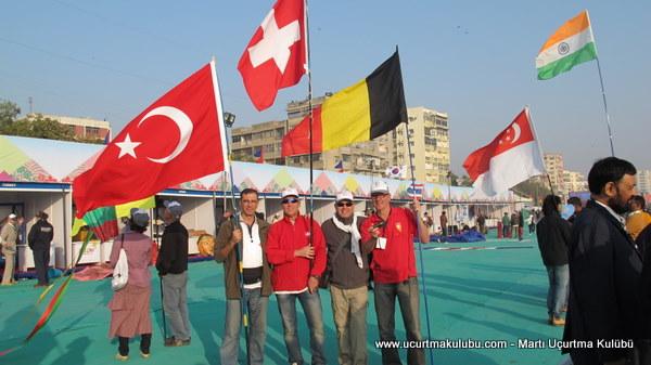 IKF 2012 Uçurtma festivali, Ahmedabad, Hindistan